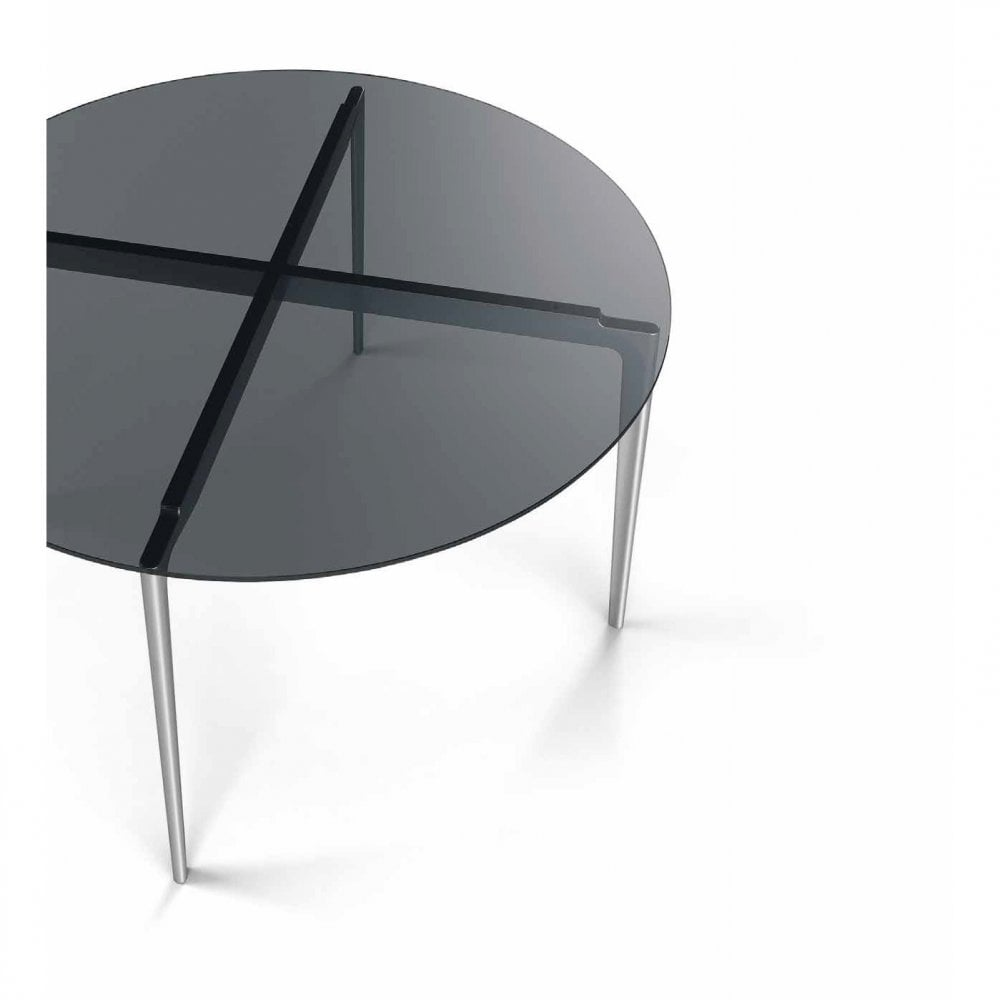 Liuto Round Glass Dining Table By Alivar Uber Interiors