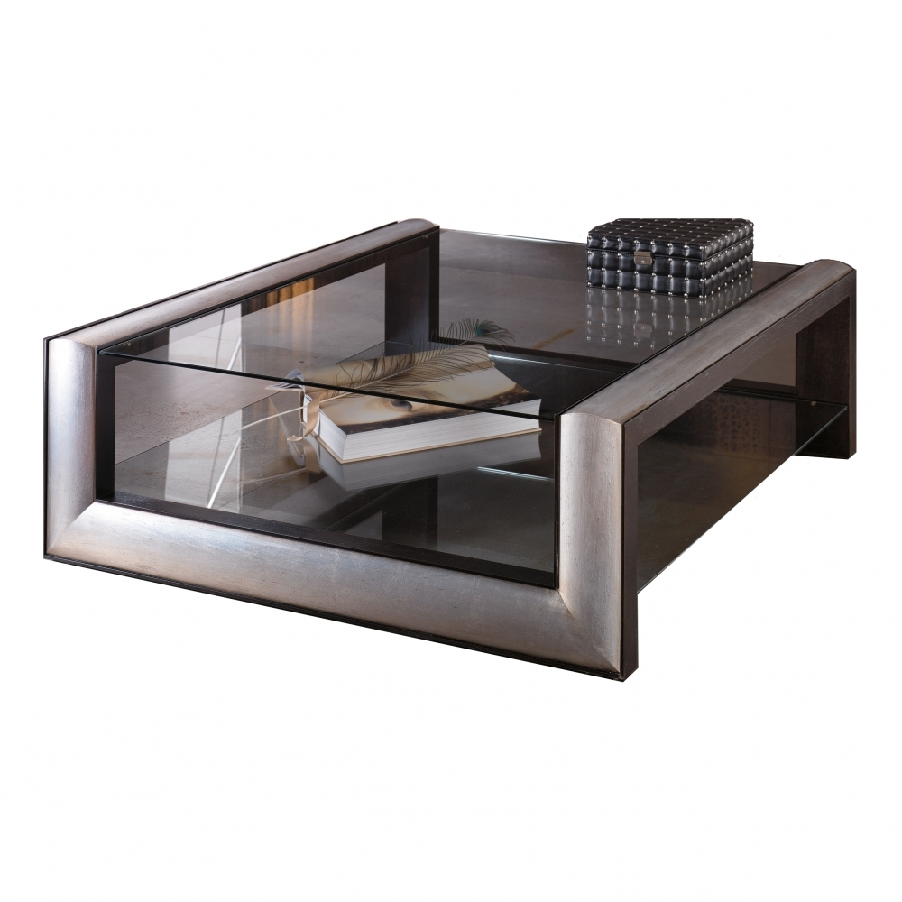 Duna Retro Square Glass Coffee Table By Amboan