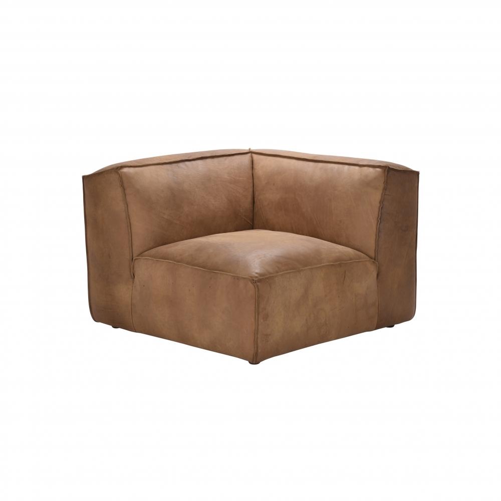 Byron Leather Sectional Sofa Corner Unit