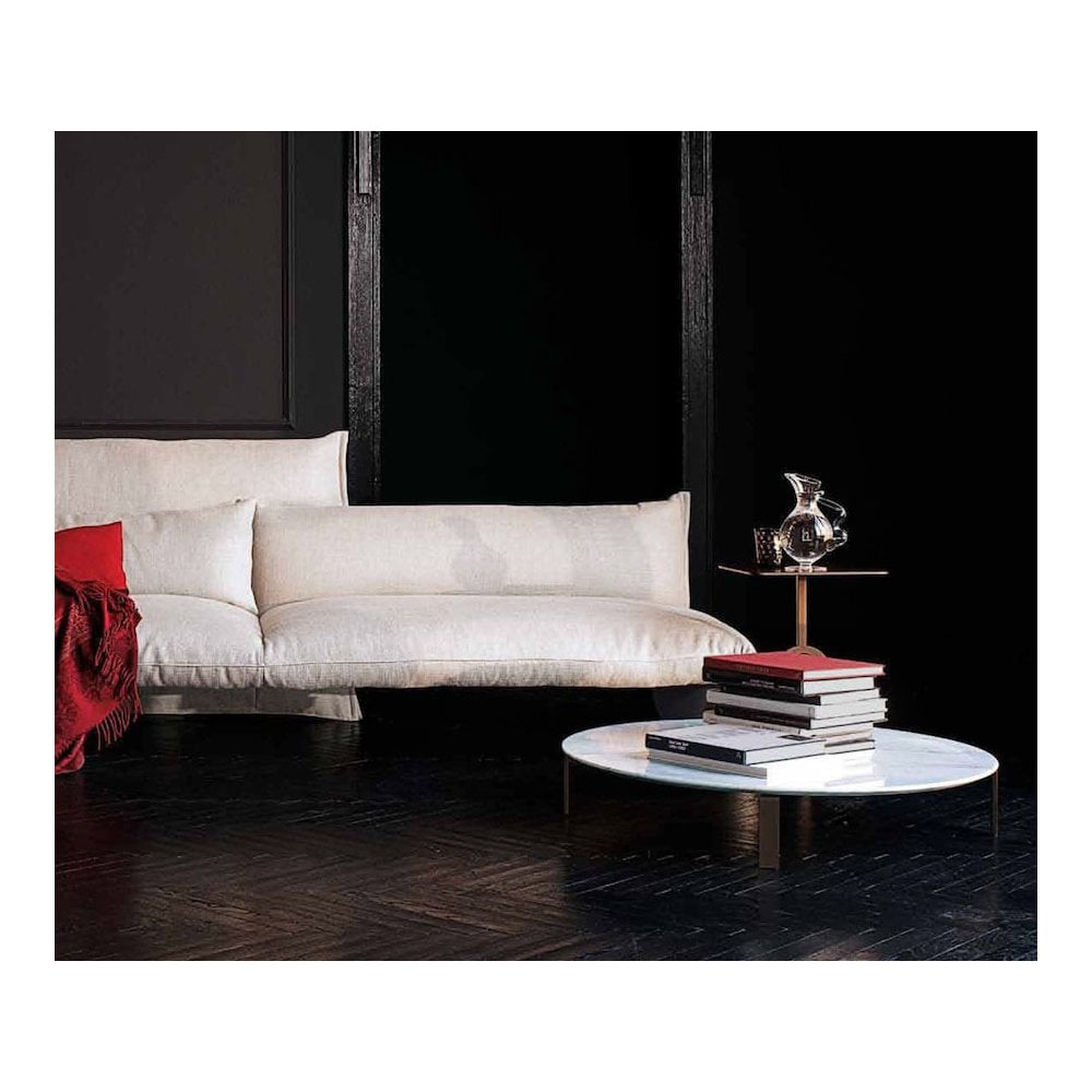 Molvedo Round Marble Coffee Table By