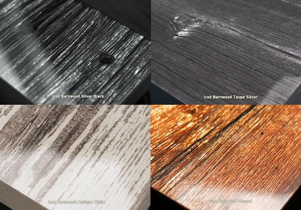 A few of the finish options available