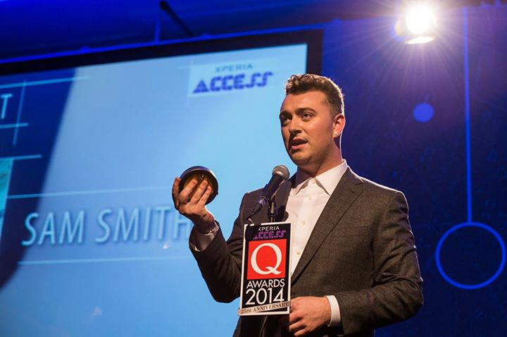 Sam Smith with his Q Award Designed by Buster + Punch