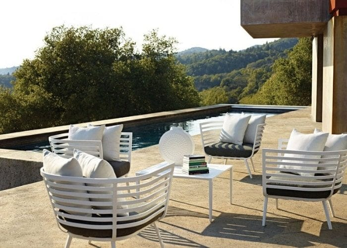 gloster outdoor chair set