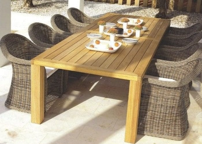 gloster outdoor table set