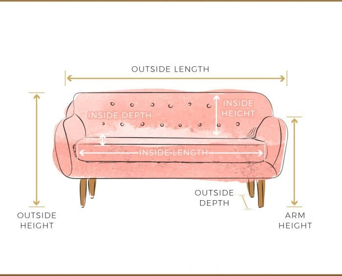 sofa buying guide, how to measure for a sofa